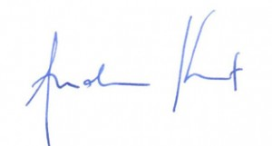 Andy Kent's signature