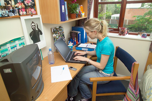 Student in halls of residence