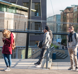 Students outside Kingston Hill campus