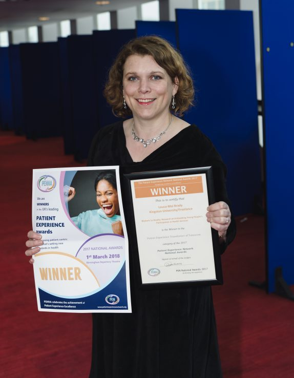 Dr Louca-Mai Brady, Research Associate in the Faculty of Health, Social Care and Education receives award.